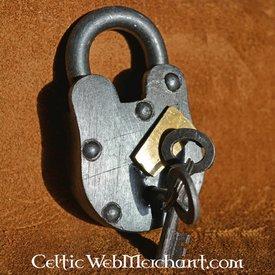 Middeleeuws hangslot met twee sleutels