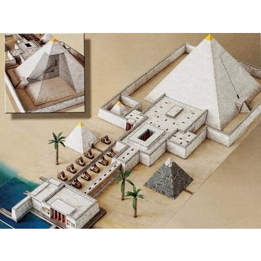 modèle de papier pyramide temple