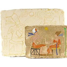 Relief Aton and Nefertiti