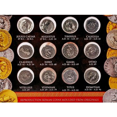 Roman coin set denarii