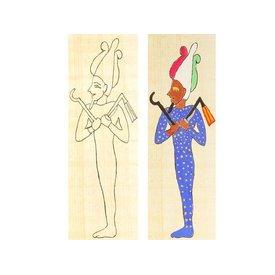 Piatto da colorare di papiro Osiride