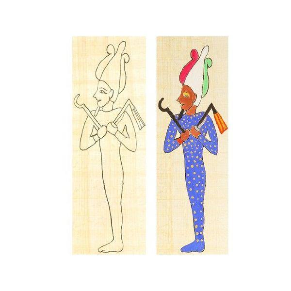 papyruskleurplaat Osirus