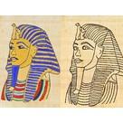 Papiro colorare morti Tutanchamon maschera