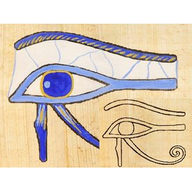 Papyrus farve plade Horus