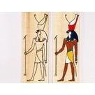 Papyruskleurplaat Horus staand