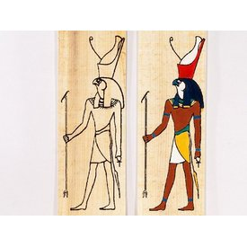 Papyrus farve plade stående Horus