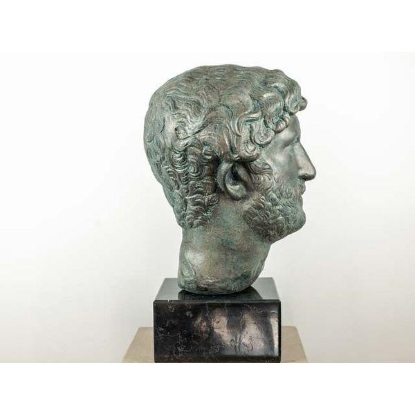 Gebronste buste keizer Hadrianus