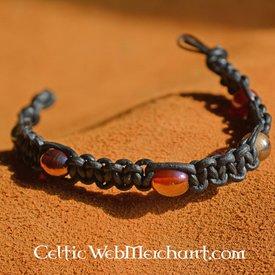 Epic Armoury Armbånd med Perler, Læder