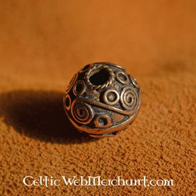 Beardbead celta con espirales de plata