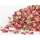 Sun petali di rosa essiccati