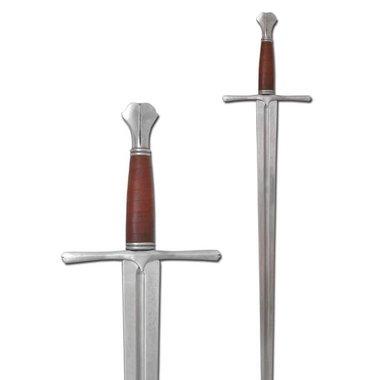 Middeleeuws zwaard met vissenstaart pommel (in voorraad)