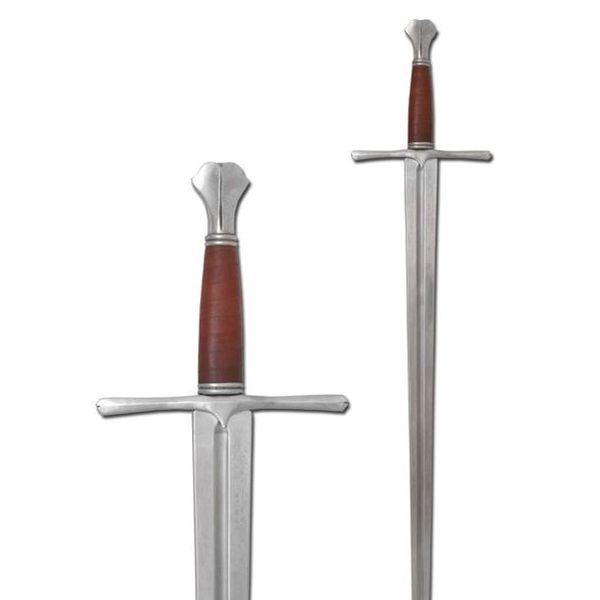 Armour Class Middeleeuws zwaard met vissenstaart pommel (in voorraad)