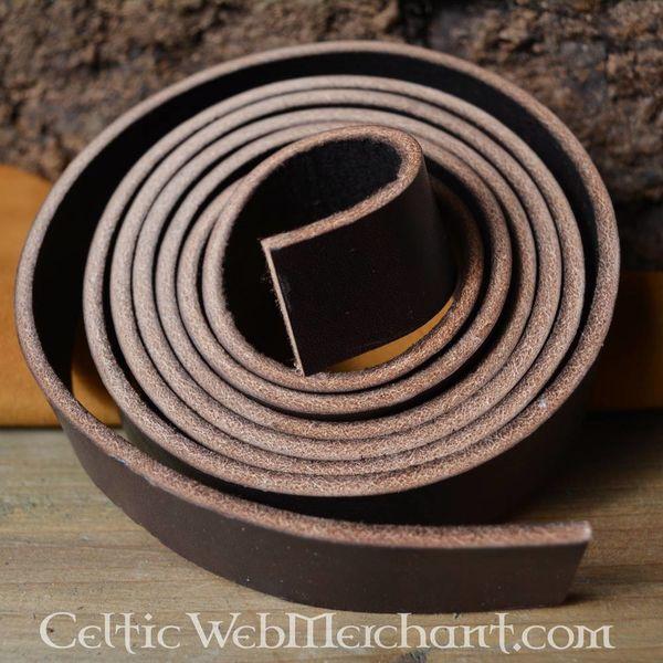 Leather belt 15 mm / 190 cm