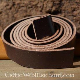 bande de ceinture en cuir, 30 mm / 180-190 cm brun