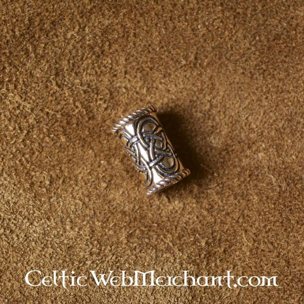 Long Celtic beard bead bronze