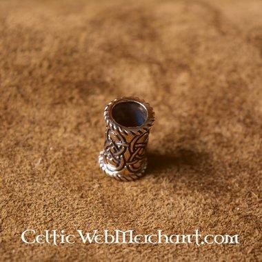 Long Celtic beard bead bronze