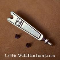Gotische tinnen riemgesp 14de-15de eeuws