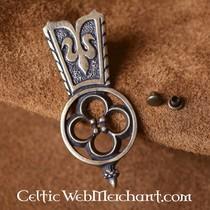 Fleur de Lys belt fitting set of 5 pieces