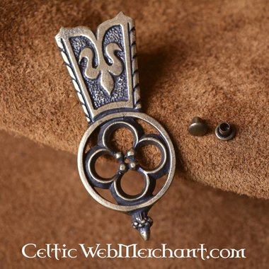 Medieval Quatrefoil belt end