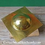 Brass square umbo