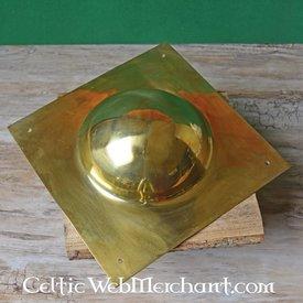 Messingen vierkante schildknop