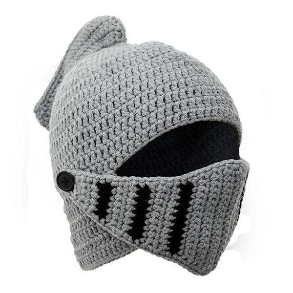 Tricoté casque de chevalier
