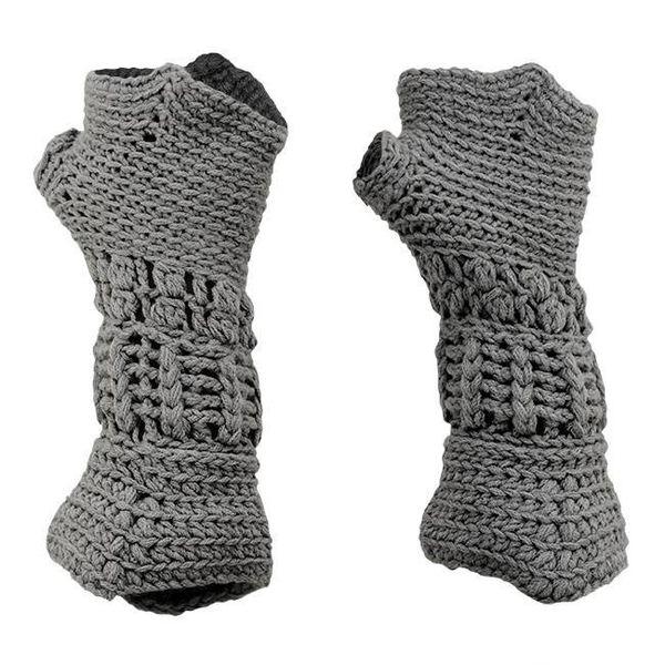 Knitted knight gloves for children