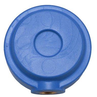 Ronde pommel voor trainingszwaard blauw