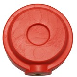 Ronde pommel voor trainingszwaard rood