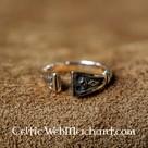 Viking Ring with diamond pattern, bronze