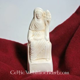 Romersk votive-statue, der sidder Fortuna