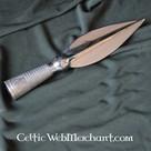 Corto punta de lanza vikingo decorado
