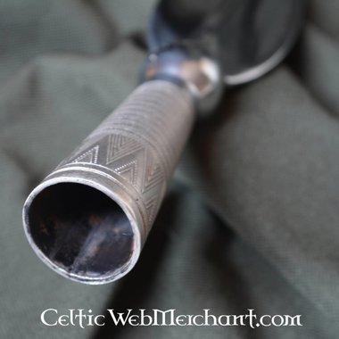 Short-Bladed Viking Spearhead, ornate socket
