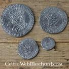 Vier munten set Hendrik VIII van Engeland