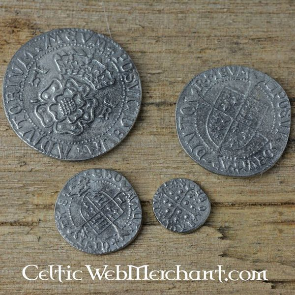 Henry VIII. Four coin set