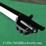 Basket hilted zwaard HEMA zwart-wit