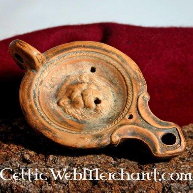 Lampe à huile romaine, Lion