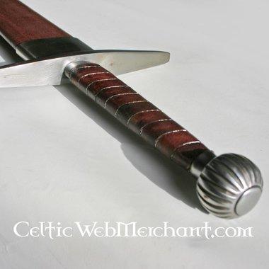 Epée à une main et demi, Oakeshott type XIIIa, prête au combat