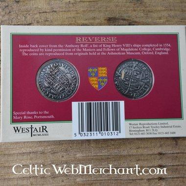 Muntenpakket Henry VIII en Elizabeth I Tudor