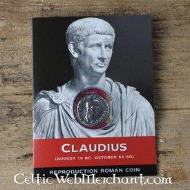 Romerske denar pack Claudius