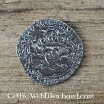 14th-15th century chausse, per piece, black