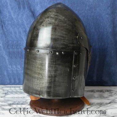 Sugarloaf Helm, avec charnière 1.6mm visière, avec finition antique