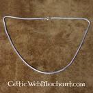 Collana d'argento ritorta doppia, 55 cm