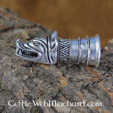 Bere Ascoltate Decorazione con la testa di lupo d'argento