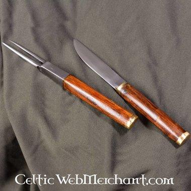 Sgian achlais con coltello e forchetta