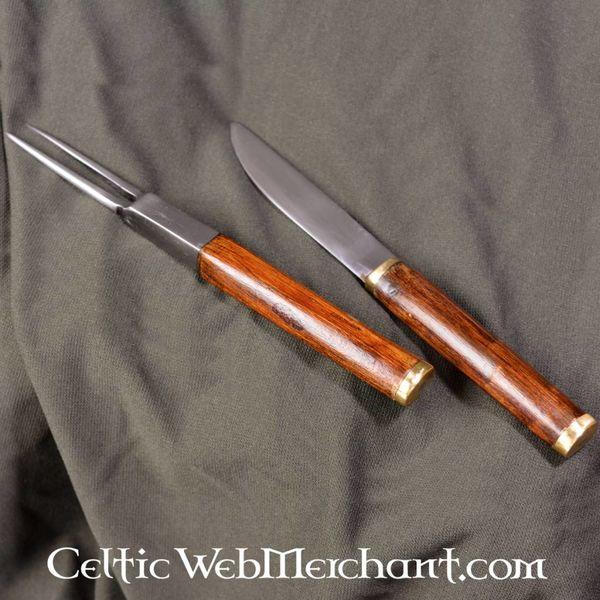 Sgian achlais met mes en vork