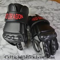 Red dragon Pommel voor basket hilted trainingszwaard black