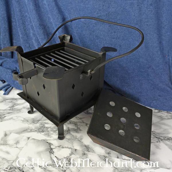 Fireplate with grill and hob