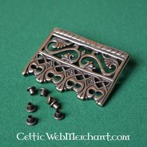 14th century belt end with quatrefoil, large