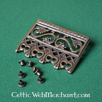 15th century belt fitting with garnet (set of 5 pieces)